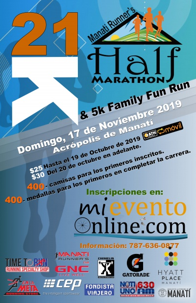 Manati Runner's Half Marathon & 5K Family Fun Run